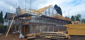 Self Build House with Timber Frames